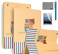 lexy® motif puissant PU cuir flip reposer cas avec protecteur d'écran et un stylet pour iPad air 2 / ipad 6