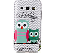 For Samsung Galaxy Case Pattern Case Back Cover Case Owl TPU Samsung J5 / J1
