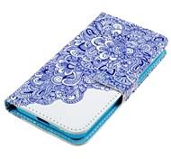 Для Кейс для Nokia Бумажник для карт / Кошелек / со стендом Кейс для Чехол Кейс для Цветы Твердый Искусственная кожа Nokia Nokia Lumia 630