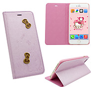 Iphone 6 PU leather cover Disney Hello Kitty Butterflies Pink with a free Headfore HD Screen Protector for IPhone 6