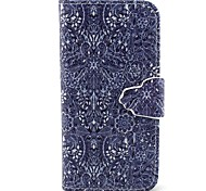 Retro Flower Pattern PU Leather Full Body Case with Card Slot and Stand for iPhone 5C