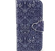 Retro-Blumenmuster PU-Leder Ganzkörper-Fall mit Einbauschlitz und stehen für iphone 5c