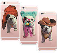 MAYCARI® Clever Shar-Pei Transparent TPU Back Case for iPhone 6/iphone 6S(Assorted Colors)