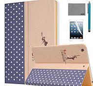 lexy® große Welt-Muster PU-Leder Flip-Standplatzfall mit Displayschutzfolie und Schreibkopf für ipad Luft / ipad 5