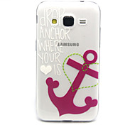 Pink Anchors Pattern TPU Relief Back Cover Case for Galaxy Core Prime/G360