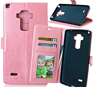 High Quality PU leather Wallet Mobile Phone Holster Case For LG G4 Stylus(Assorted Color)