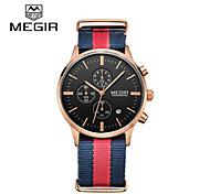 MEGIR® Mens Watches Brand Luxury Fashion Business Watch Quartz-Watch and Waterproof Chronograph Cool Watch Unique Watch