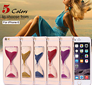 Dynamic Flowing Sand Hourglass Glitter Quicksand Capa Clear Case for iPhone 6/6S(Assorted Colors)