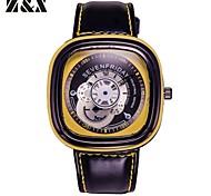 Men's Fashion Personality Quartz Analog Leather Bracelet Watch(Assorted Colors) Cool Watch Unique Watch