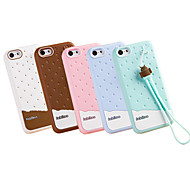 Fabitoo New Fashion Lovely Cute Healthy Cartoon Ice Cream Silica-gel Anti Drop Back Cover Case for iPhone 5C