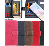 PU Leather +TPU Back Cover Wallet Input The SIM Card Case Can Be Separated Case For Samsung Galaxy S6 Edge/S6/S5