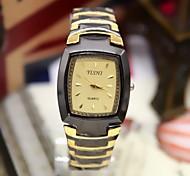 Men's Fashion Watch Barrel-Shaped Fashion Steel Quartz Watch (Assorted Colors) Cool Watch Unique Watch