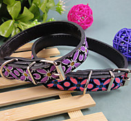 PU Butterfly Tattoo Collar Dog Collars Large Pet Supplies Lmitation Leather Thickening Super Tough Collar Collar