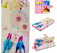 Campanula Leather Feather for Galaxy S5/S6/S6Edge/S6Edge Plus