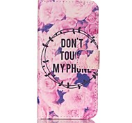 EFORCASE® Flowers Painted PU Phone Case for Galaxy S6edge/S6/S5/S4/S3/S5mini/S4mini/S3mini
