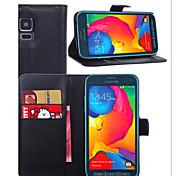 geprägtem Leder Kartenhalter Schutzhülle für Samsung Galaxy S5 Sport Handy