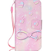 Pink Mood  Pattern PU Leather Phone Case For iPhone 5C