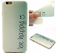 Gerne Wörter Phrase Muster 0,6 mm ultradünne weiche Tasche für Apple iPhone 6 plus / 6s Plus