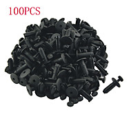 K074 100 Pcs Auto Car 6mm Hole Plastic Rivets Bumper Door Fastener Push Clips