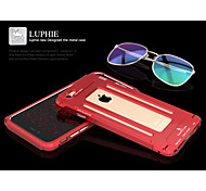 LUPHIE Slim Armor Hollow Aluminium Metal Frame Case Skin Cover For iPhone 6/6S