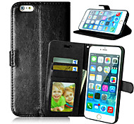 High quality PU leather wallet mobile phone holster Case For iPhone 6 Plus(Assorted Color)