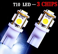 2 x Bright White T10 LED License Plate Light Bulbs -194 2825 168 158 5-SMD Wedge