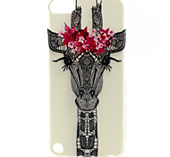 girafa padrão animal pintura TPU soft case para o iPod touch 5