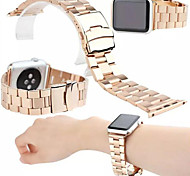 Luxury Stainless Metal Watchband with Clip Adapter for Apple watch 38mm / 42mm (various colors)
