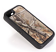 Branch Camouflage Shockproof Case W/ Build-in Screen Protector for iPhone 5/5S Plastic + TPU Cover With