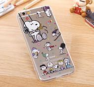 sottile trasparente caso grafico cane TPU per il iPhone 6s 6 plus / iphone più (colori assortiti)