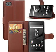 Fashion Leather Dirt-resistant Flip Wallet Cover Case For Sony Xperia Z5 Compact Capa Phone Case