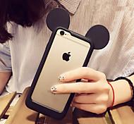 precioso estuche blando de silicona marco para el iphone 6s más / 6 más