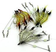 10 pc Esca Esche morbide Colori casuali g/Oncia mm pollice,Plastica morbida Pesca con esca