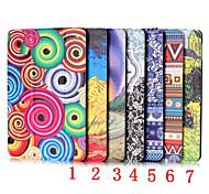 Patrón de dibujo coloreado caso 7,9 pulgadas cuero de la PU para el mini ipad 4 (colores surtidos)