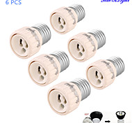 YouOKLight® 6PCS E27 to GU10 Light Lamp Bulb Adapter Converter - Silver + White