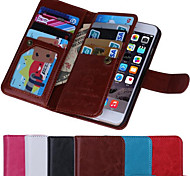 magnetici 2 in 1 in pelle portafogli titolari di carte di + 9 + fessura contanti + cornice cassa del telefono per il iphone 6 / 6s