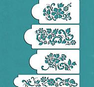 Valentine's Gift Flowers Cake Decorating Cake Design Stencils,ST-228