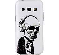 For Samsung Galaxy Case Pattern Case Back Cover Case Skull TPU Samsung J5 / J1
