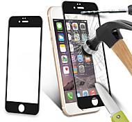 fibra de carbono protector de pantalla de borde redondo clara balísticos vidrio templado de vidrio para iPhone6 más&6s más (color