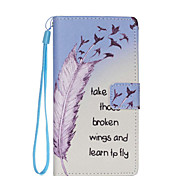 Feather Pattern PU Leather Phone Case For Huawei  P8 Lite