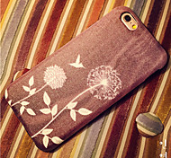 Woodcut Printing Pattern High Quality PU Leather and TPU Back Case for iPhone 6/iphone 6S(Assorted Colors)