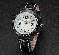 V6 Men's Fashion Design Leather Strap Quartz Casual Watch