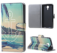 Anchor and Trees Wallet Leather Stand Case for BLU Life X8