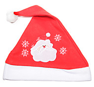 Flannelette Embroidered Christmas Hat(Santa Claus)