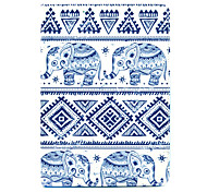 LEXY® Blue Elephant Pattern PU Leather Flip Stand Case with Screen Protector and Stylus for iPad Mini 4