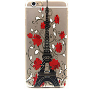 Iron tower Pattern TPU Relief Back Cover Case for iPhone 6/iPhone 6S