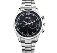 Neuheit Männer Mode Edelstahl-Quarz-Armbanduhr