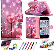 Geometric Pattern PU Leather Phone Holster Includes Stand Anti-dust Plug stylus,A variety of color for iPhone 5/5S