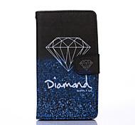 elegant Diamant-Muster PU-Leder Ganzkörper-Fall mit Standplatz für mehrfache sony e4 / m4