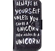 Be Yourself Pattern Full Body Cover with Card Slot for GALAXY CORE Prime